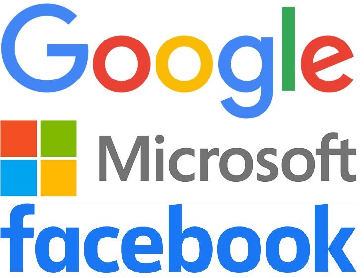 Google Microsoft Facebook