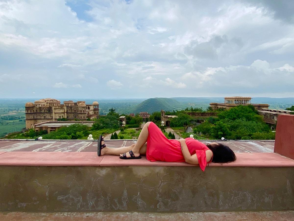 Akanksha Dean enjoying the stunning view.