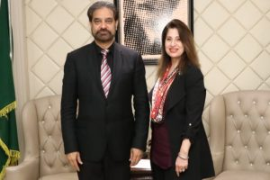 Lahore Chamber of Commerce President Irfan Iqbal Sheikh and Madame Asifa Baig