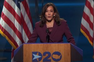Kamala Harris accepting nomination