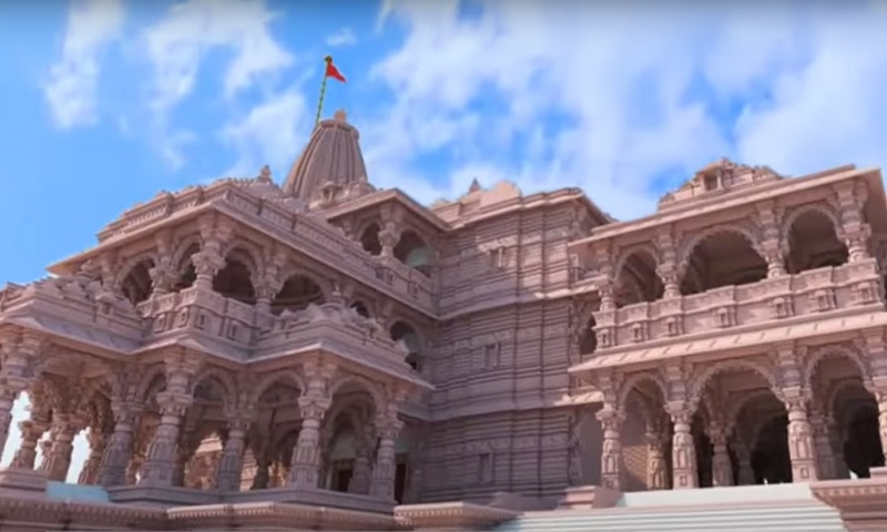 Sketch of proposed Ram Mandir in