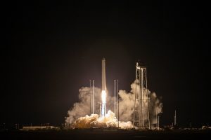 A Northrop Grumman Antares rocket launches to the International Space Station on Oct. 2, 2020, from NASA's Wallops Flight Facility, Wallops Island, Virginia. The rocket is carrying a Cygnus spacecraft with 8,000 pounds of supplies and experiments. Credits: NASA Wallops/Patrick Black