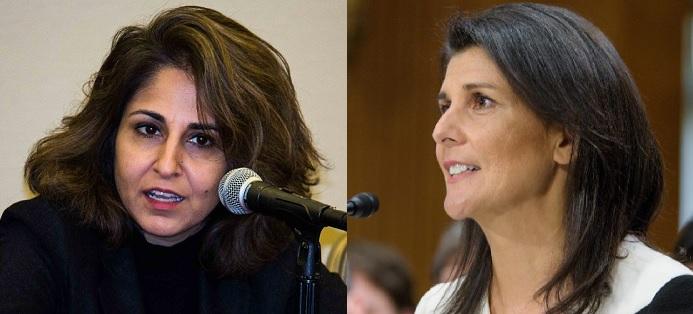 Neera Tandon and Nikki Haley