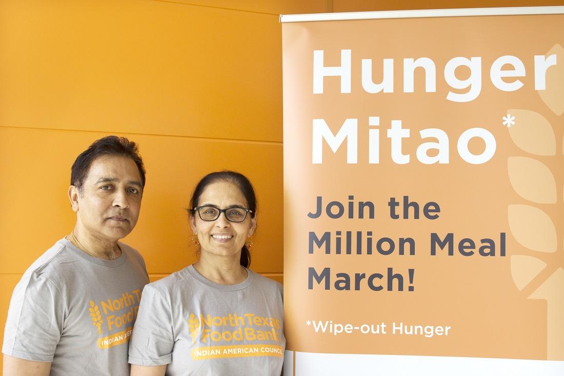 Raj Asava and his wife, Aradhana, who founded the HungerMitao initiative.