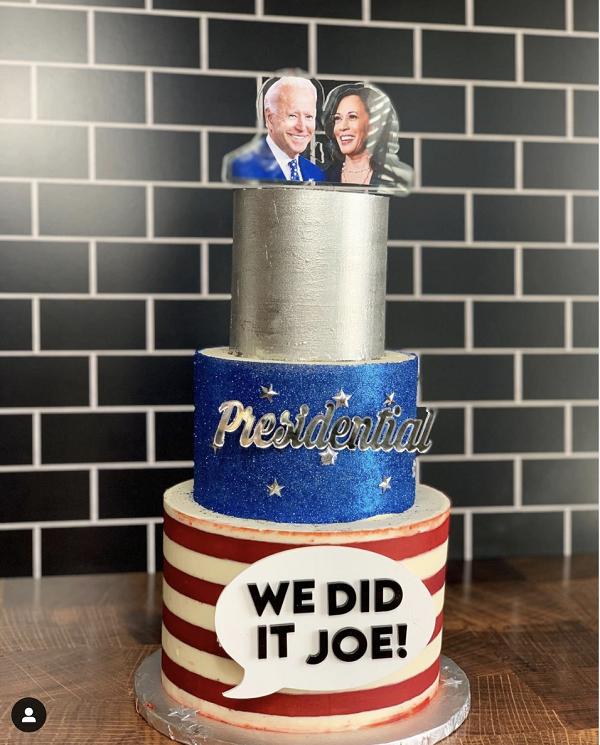 """We did it Joe"" cake"