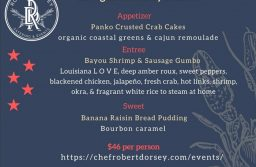 Chef Robert Dorsey's Inauguration Day Dinner menu