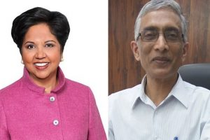 Indra Nooyi (left) and Param Iyer will address a virtual water and climate change event hosted by Safe Water Network to celebrate World Water Day on March 22.