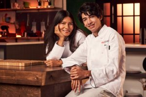 """Milan Bhayana and Chandrani Ghosh are competing on the Peacock series """"Top Chef Family Style,"""" which premieres on September 9."""